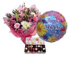 Mothers Day Balloons and Flowers
